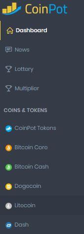 کسب ارزهای دیجیتال با سایت coinpot