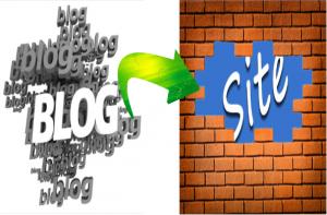 convert blog to site , تبدیل وبلاگ به سایت