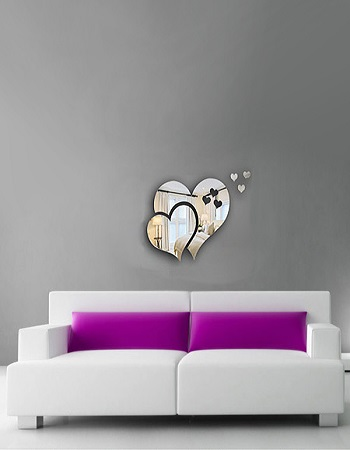 آینه طرح عشق - آینه طرح قلب - آینه خاص و شیک - خرید آینه - خرید وسایل تزیینی