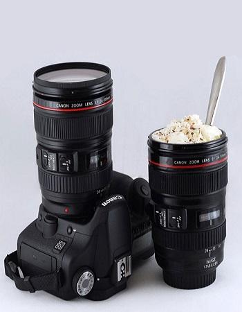 لیوان شیک و خاص - لیوان مخصوص آتلیه ها - لیوان طرح لنز دوربین عکاسی - خرید لیوان تزیینی