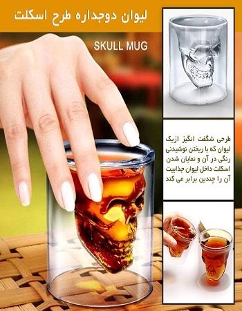 لیوان طرح اسکلت - لیوان خاص - خرید لیوان تزیینی - خرید وسایل تزیینی خاص