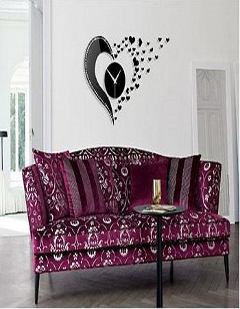 ساعت دیواری - خرید ساعت دیواری شیک - ساعت دیواری طرح Love - وسایل شیک منزل - ساعت دیواری طرح قلب