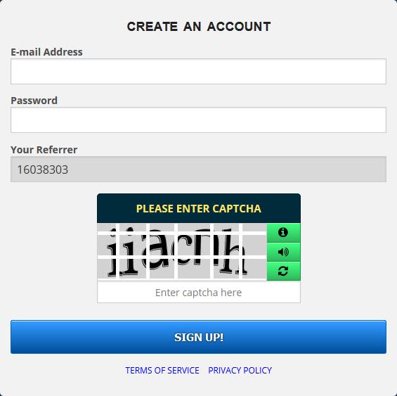 ثبت نام در سایت فری بیت کوین