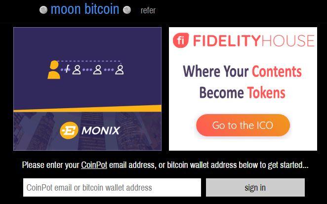 کار با سایت moon bitcoin